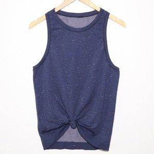 Lululemon athletica front tie blue tank Size 6